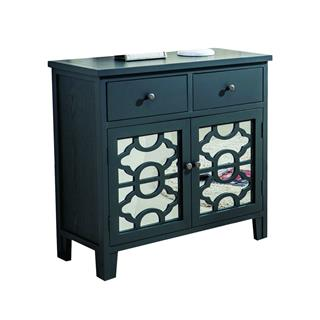 Bristol 2 Drawer Cabinet Black